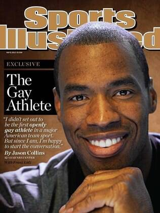 Capa da revista Sports Illutrated, que traz foto do pivô Jason Collins, que assumiu ser gay