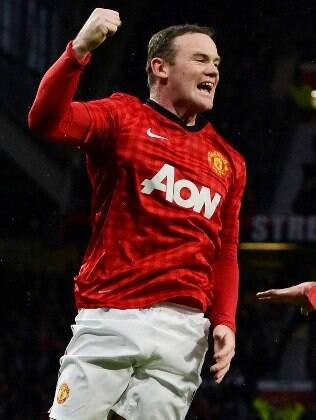 Rooney, atacante do Man United