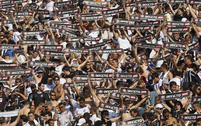 Torcida do Corinthians, o time com a marca mais valiosa do Brasil