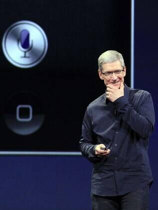 Apple, do CEO Tim Cook, já tem o Twitter integrado ao iOS, sistema operacional do iPhone e do iPad