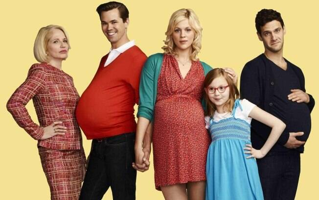 Ellen Barkin, Andrew Rannells, Georgia King, Bebe Wood e Justin Bartha em 'The New Normal'