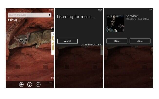 Bing Audio permite identificar a música que está tocando no Windows Phone