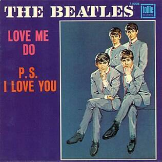 Capa do single 'Love Me Do', dos Beatles