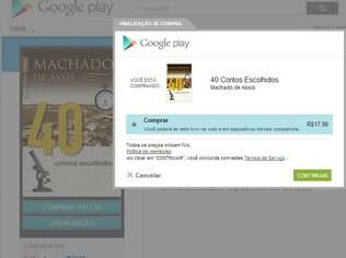 Compra de aplicativos na Google Play