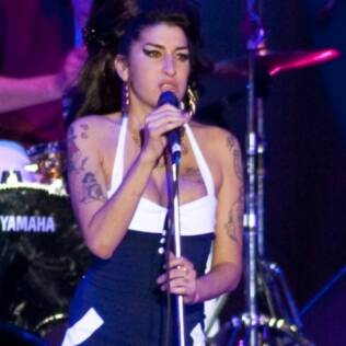 Amy Winehouse em show em SP