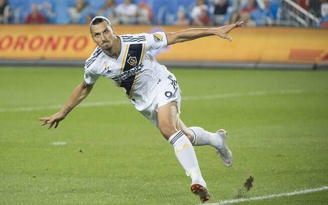 Atualmente, Zlatan Ibrahimovic defende o Los Angeles Galaxy