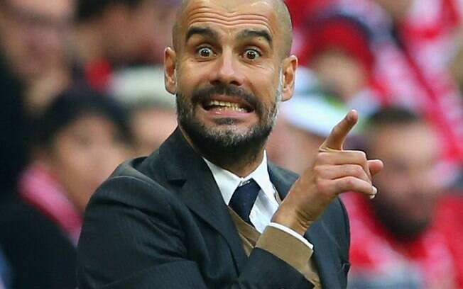 Pep Guardiola, treinador do Manchestey City