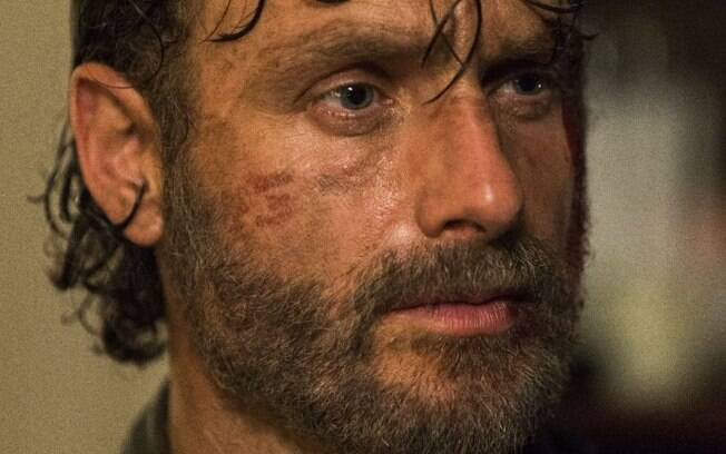 Rick em cena de The Walking Dead