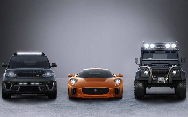 Range Rover Sport SVR, Jaguar C-X75 e Land Rover Defender Big Foot estarão em