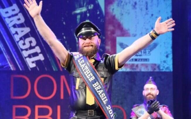 Dom Barbudo foi o primeiro Brasileiro a concorrer ao concurso International Mr. Leather