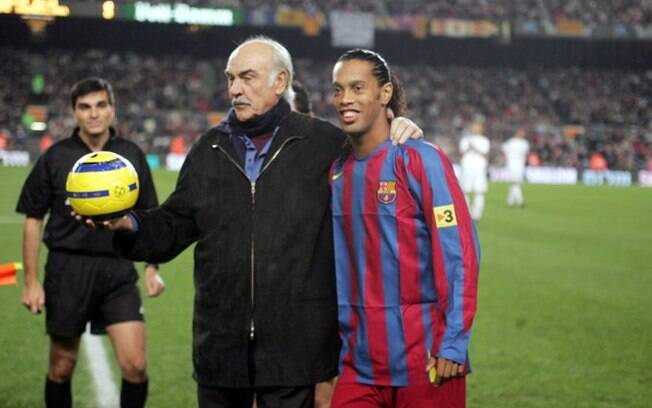 Ronaldinho e Sean Connery