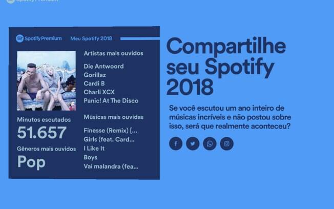 O compilado do seu ano no Spotify