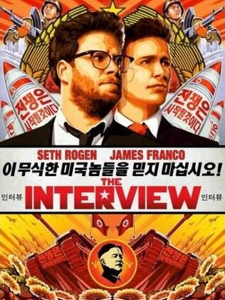 Cartaz de The Interview, com Seth Rogen e James Franco