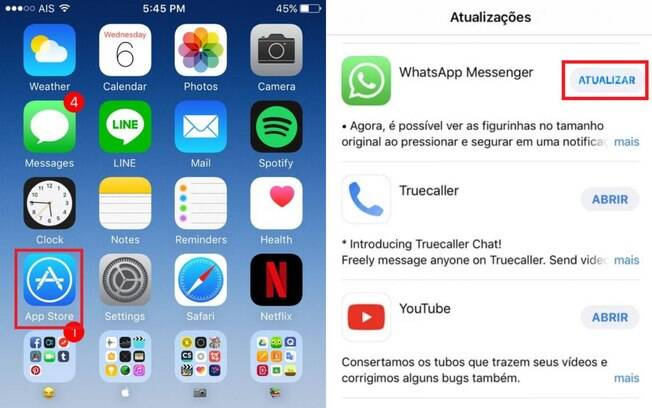 Atualizat Whatsapp no Iphone