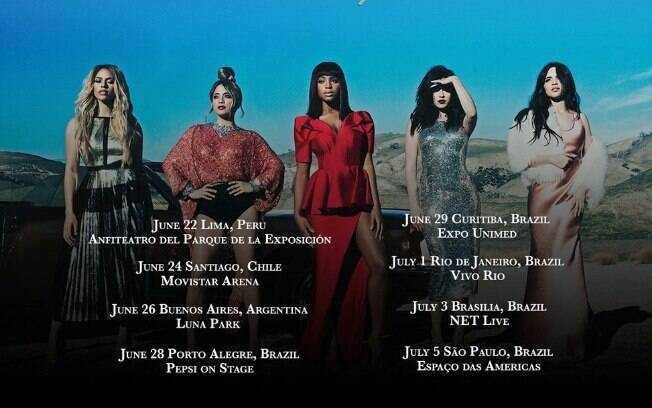 As garotas do Fifth Harmony divulgaram a data oficial da vinda ao Brasil