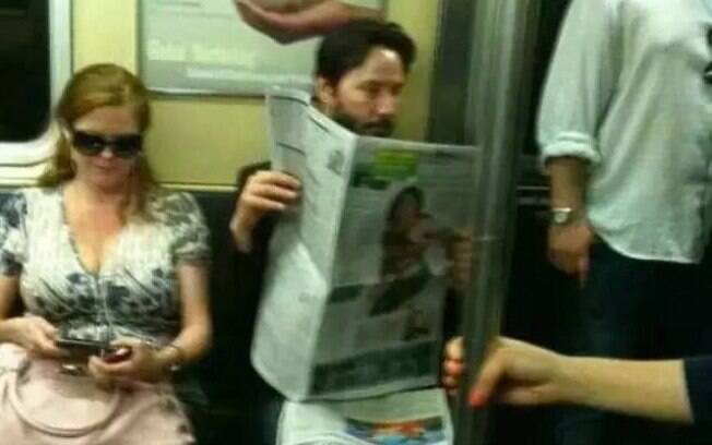 Keanu Reeves no metrô de Nova York