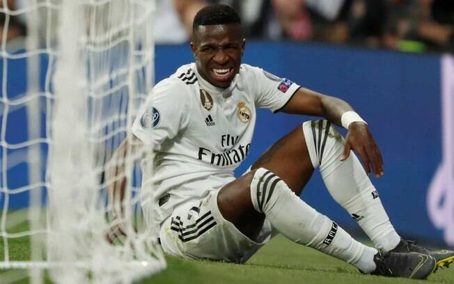 Vinicius Júnior rompeu os ligamentos do tornozelo em partida do Real Madrid