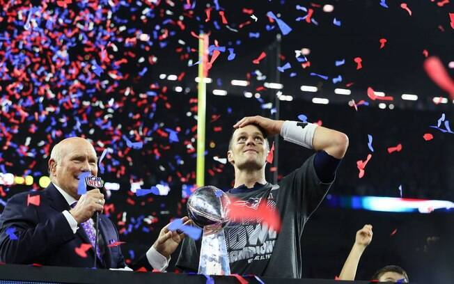 Tom Brady participou dos cinco títulos do Patriots