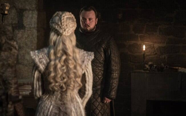 sam fala com daenerys em cena de game of thrones