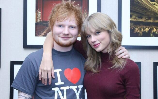 Ed Sheeran e sua BFF Taylor Swift