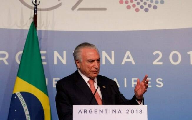 Michel Temer discursa no encontro do G20