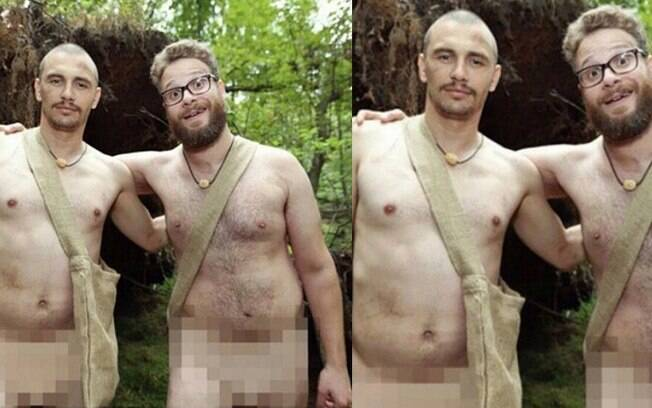 James Franco e Seth Rogen nus