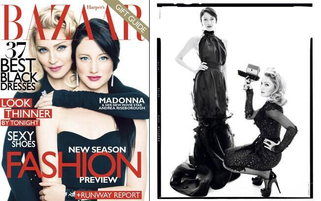 Madonna e Andrea Riseborough na capa da revista