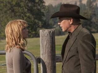Kevin Costner (John Dutton) e Kelly Reilly (Beth Dutton)
