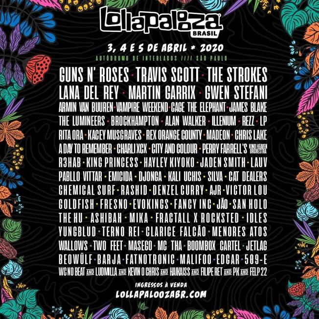 Line-up Lollapalooza 2020