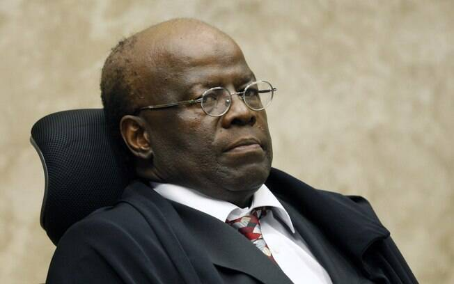 Presidente Joaquim Barbosa durante sessão do Supremo Tribunal Federal