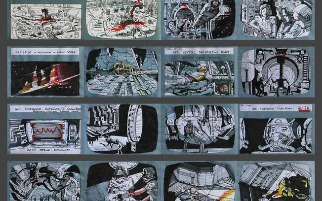 Storyboards de Riddley Scott para ''Alien: O Oitavo Passageiro''