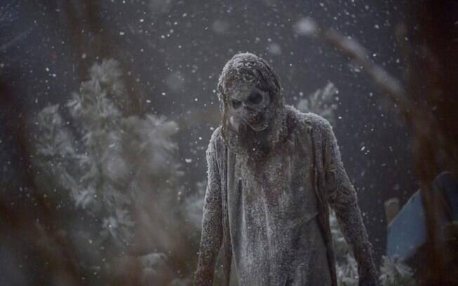 zumbi na neve em The Walking Dead