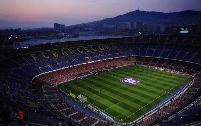 Vista do Camp Nou, estádio do Barcelona