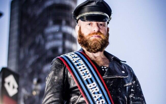 Dom Barbudo, ícone da cena Leather no Brasil, foi o primeiro concorrente brasileiro no concurso International Mr. Leather