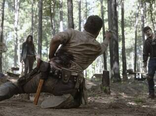 Cena de What Comes After, que marca a saída de Rick Grimes (Andrew Lincoln) de The Walking Dead