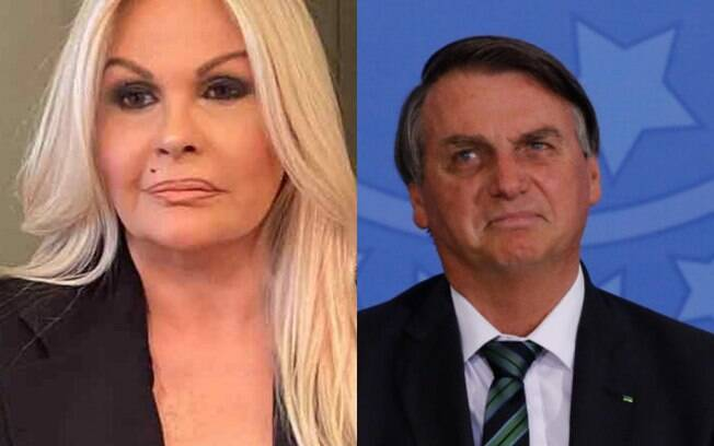 Monique Evans e Jair Bolsonaro