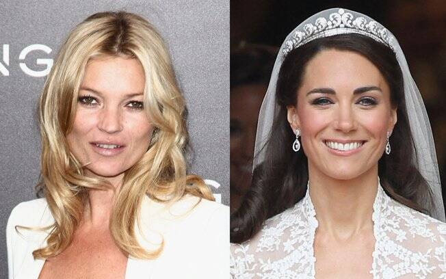 Kate Moss e a duquesa Catherine